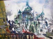 Berliner Dom - Aquarell von Andreas Mattern - 38 x 56 cm