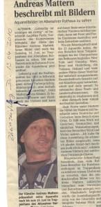 Rheinzeitung Di. 13.4.2010 - Andreas Mattern beschreibt mit Bildern