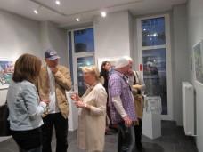 Besucher (vorne Oskar und Anne Brunner)