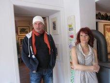 Conny und ich in der Galerie Treffpunkt Kunst