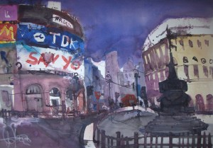 London 2007 - Aquarell von Andreas Mattern - 56 x 76 cm