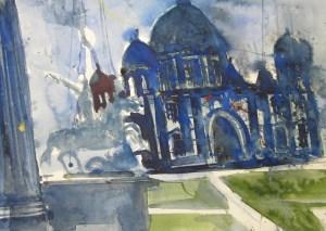 Entstehung Reichstag - Aquarell von Andreas Mattern