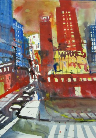 New York - Aquarell von Andreas Mattern - 40 x 30cm