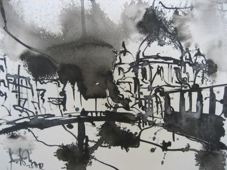 Berliner Dom 2006 - Zeichnung von Andreas Mattern - 20 x 30 cm - Tusche auf Bütten