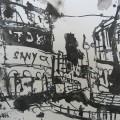 London 2006 – Zeichnung von Andreas Mattern – 20 x 30 cm – Tusche aufBütten