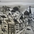 Wien 2006 - Zeichnung von Andreas Mattern - 20 x 30 cm - Tusche auf Bütten