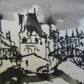 Hamburg Speicherstadt 2006 – Zeichnung von Andreas Mattern – 20 x 30 cm – Tusche aufBütten