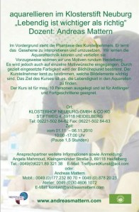Ankündigung Malkurs Heidelberg