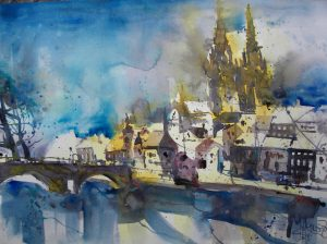 Regensburg - Aquarell von Andreas Mattern - 2008 - 56 x 76 cm
