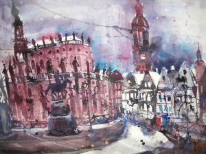 Dresden 2008 - Aquarell von Andreas Mattern - 56 x 76 cm