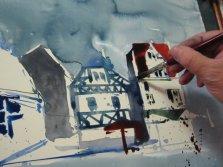 Entstehung Kamen - Aquarell von Andreas Mattern