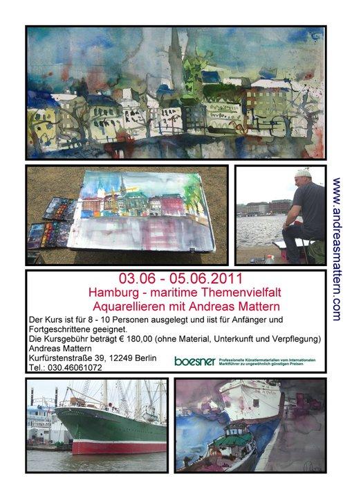 Aquarellkurs Andreas Mattern Hamburg