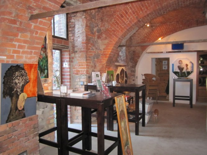 Der Ausstellungsraum der Kulturbrennerei Haselberg