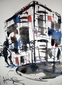 Printed Media Lounge 2007 - Zeichnung von Andreas Mattern
