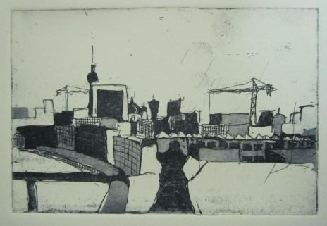 Jahresgabe 3 - Blick vom Reichstag - Aquatinta von Andreas Mattern - 10 x 15 cm - Auflage 50 Stück