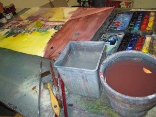 Mein Tisch strahlt vor Farbe