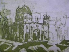 Variationen des Berliner Doms von Andreas Mattern 2003 - Aquatinta - 15 x 20 cm