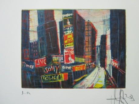 N.Y. - Aquatinta, 3 Platten von Andreas Mattern, 15 x 20 cm