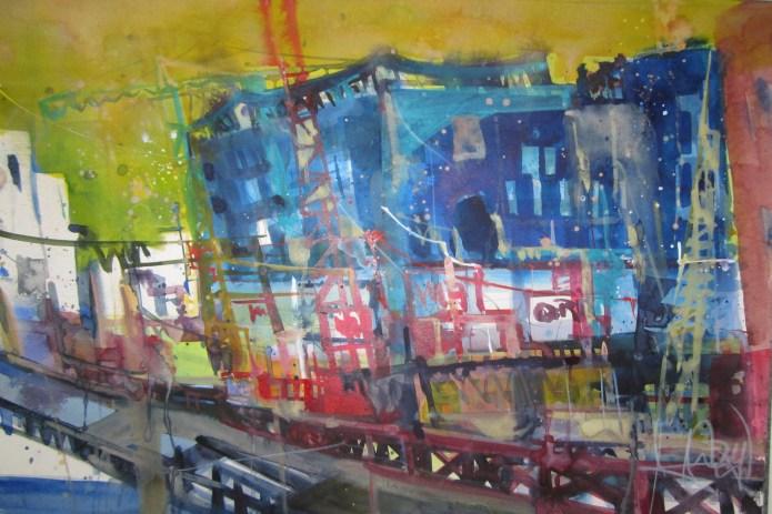 Hamburg, Elbphilharmonie - Aquarell von Andreas Mattern - 38 x 56 cm