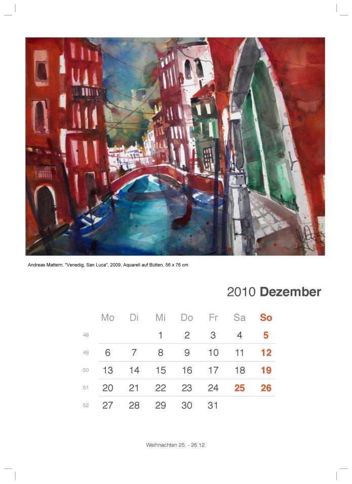 Kalenderblatt Dezember 2010 von Andreas Mattern