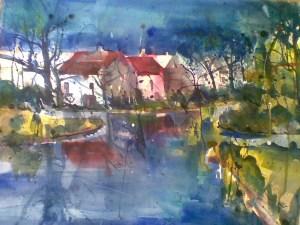 Aquarell auf Bütten , 56x76 cm, 2010