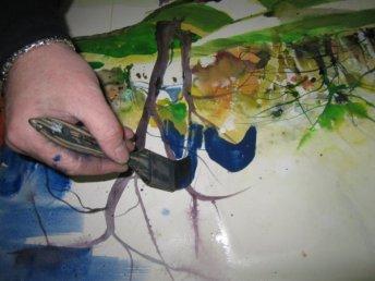 Blau - Mutig male ich blau - Entstehung Aquarell von Andreas Mattern