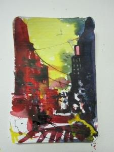 New York, Aquarell 15, 2 X 10, 2 cm; Andreas Mattern