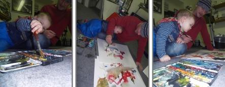 Melle im Atelier II Jan 11