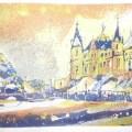 Schweriner Schloss Radierung Variante1
