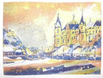 Schweriner Schloss Radierung Variante 1