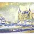 Schweriner Schloss Radierung Variante2