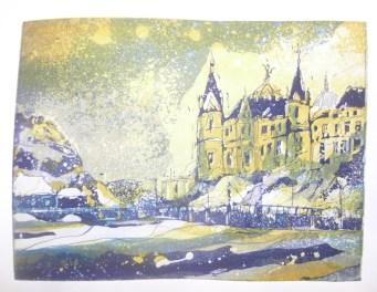 Schweriner Schloss Radierung Variante 2