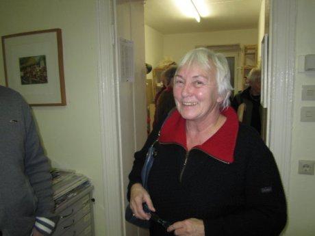 Frau Illigner, die Leiterin des Fördervereins der Graphothek ist oft bei uns zu Gast