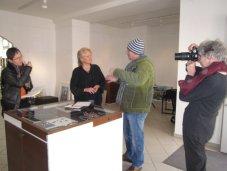 Im Gespräch mit Presse, Galeristin und Kunstverein