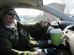 Kaffee im Auto ist wichtig!