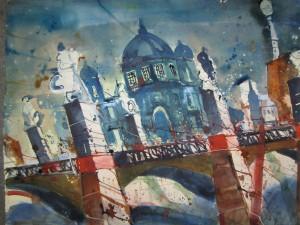 Berliner Dom - Aqaurell von Andreas Mattern - 56 x 76 cm