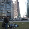 Am ersten Tag malten wir am PotsdamerPlatz