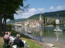 Stein am Rhein in der Schweiz heute gemalt
