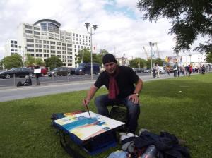 Malen am Potsdamer Platz, am 12.0ß.2012, Andreas Mattern