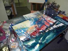 Arbeit im Atelier, Andreas Mattern