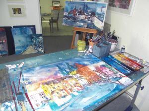 Atelierarbeit bei Andreas Mattern