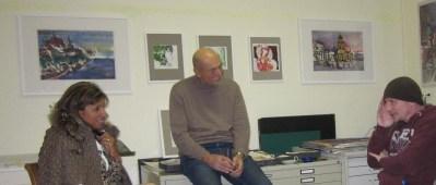 Anne Brunner und Oskar Brunner im Atelier