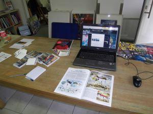 Zeitschrift Palette im Atelier von Andreas Mattern