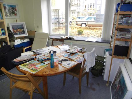Atelier Kurs Aquarell bei Andreas Mattern in Berlin, Nov. 2011