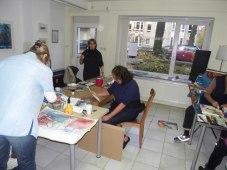 Atelier Kurs Aquarell bei Andreas Mattern in Berlin, Nov. 2011
