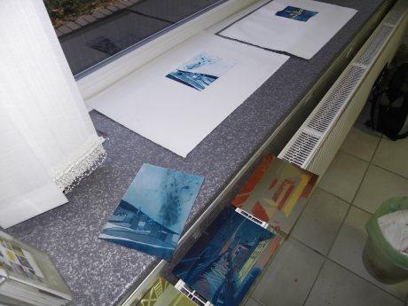 Eindrücke Radierkurs bei Andreas Mattern, Berlin Nov.2011