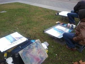 Malen am Potsdamer Platz