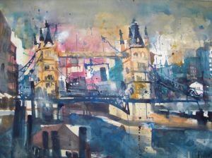 London, Aquarell 56/76 cm, Andreas Mattern
