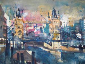 London, Aquarell 56/76 cm, Andreas Mattern