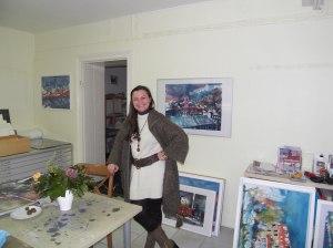 Besuch im Atelier, 23.01.2012, Foto Andreas Mattern
